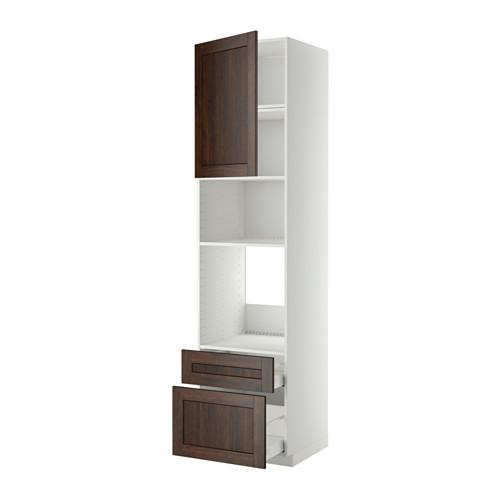METOD/MAXIMERA - high cab f oven/micro w dr/2 drwrs, white/Edserum brown | IKEA Hong Kong and Macau - PE411960_S4