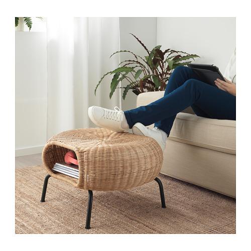 GAMLEHULT - footstool with storage, rattan/anthracite | IKEA Hong Kong and Macau - PE716937_S4