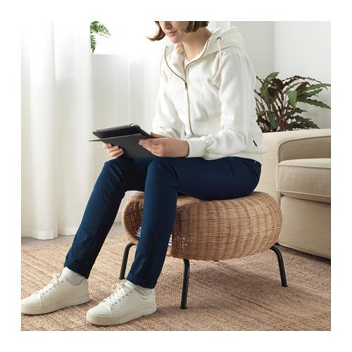 GAMLEHULT - footstool with storage, rattan/anthracite | IKEA Hong Kong and Macau - PE716938_S4