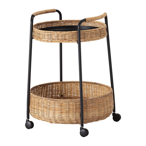 LUBBAN - trolley table with storage, rattan/anthracite   IKEA Hong Kong and Macau - PE716944_S4