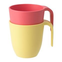 HEROISK - 杯, 淺紅色/黃色 | IKEA 香港及澳門 - PE756172_S3