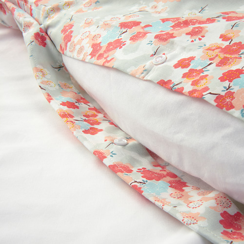 KLIBBGLIM quilt cover and 2 pillowcases