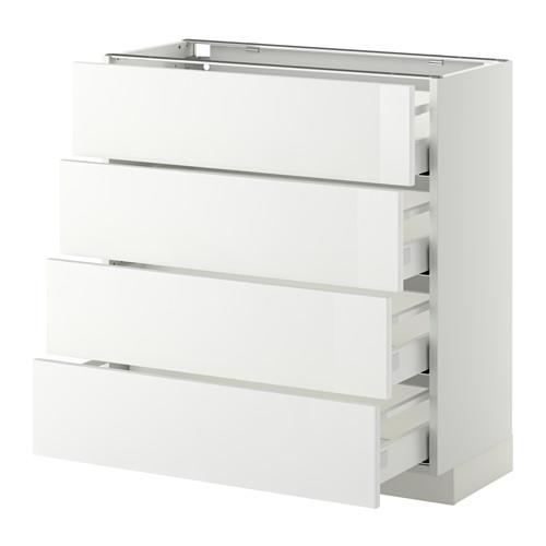 METOD - base cab 4 frnts/4 drawers, white Maximera/Ringhult white | IKEA Hong Kong and Macau - PE411409_S4