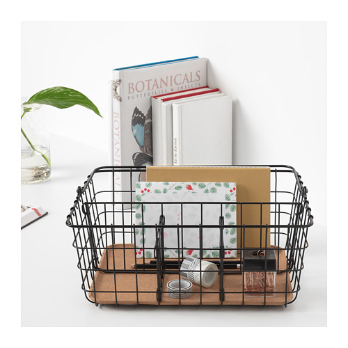 PLEJA - wire basket with handle, black | IKEA Hong Kong and Macau - PE667675_S4