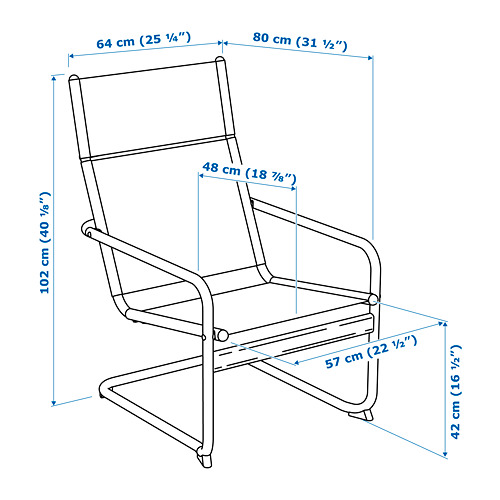 HUSARÖ - armchair, outdoor, dark grey | IKEA Hong Kong and Macau - PE756247_S4