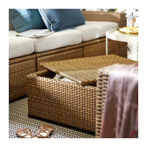SOLLERÖN - 3-seat modular sofa, outdoor, brown/Frösön/Duvholmen beige | IKEA Hong Kong and Macau - PE717172_S4