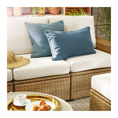 SOLLERÖN - 3-seat modular sofa, outdoor, brown/Frösön/Duvholmen beige | IKEA Hong Kong and Macau - PE717177_S4