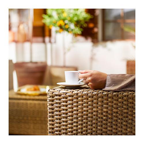 SOLLERÖN - 3-seat modular sofa, outdoor, brown/Frösön/Duvholmen beige | IKEA Hong Kong and Macau - PE717178_S4