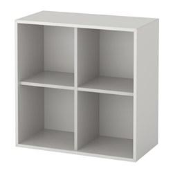 EKET - cabinet with 4 compartments, light grey | IKEA Hong Kong and Macau - PE614565_S3