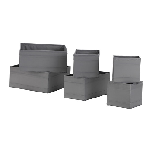 SKUBB - box, set of 6, dark grey | IKEA Hong Kong and Macau - PE667775_S4