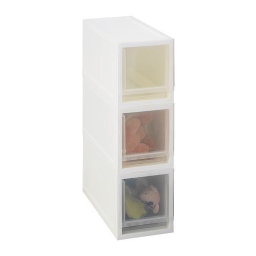 SOPPROT - pull-out storage unit, transparent white | IKEA Hong Kong and Macau - PE667800_S4