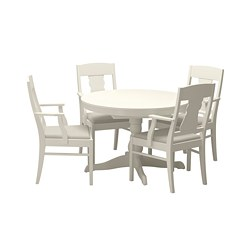 INGATORP/INGATORP - table and 4 chairs, white | IKEA Hong Kong and Macau - PE667817_S3