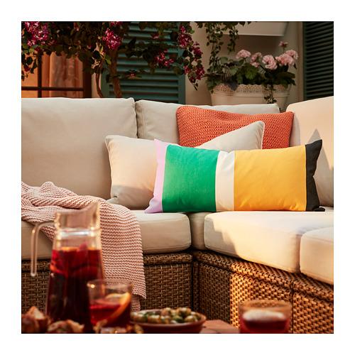 SOLLERÖN - modular corner sofa 3-seat, outdoor, brown/Frösön/Duvholmen beige | IKEA Hong Kong and Macau - PE717300_S4