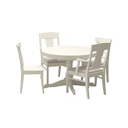 INGATORP/INGOLF - table and 4 chairs, white/Nordvalla beige | IKEA Hong Kong and Macau - PE667871_S3