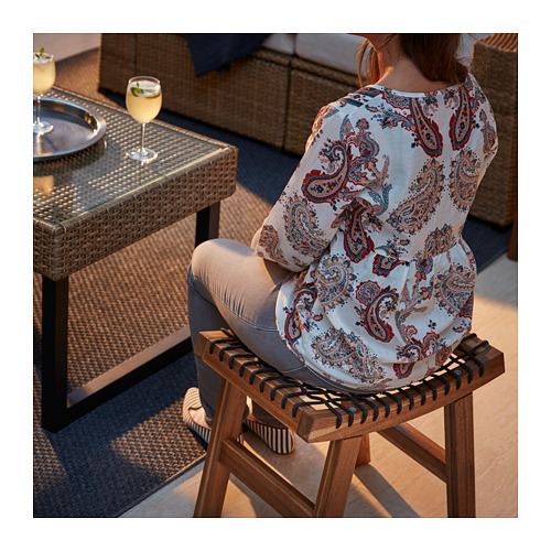 STACKHOLMEN - stool, outdoor, light brown stained | IKEA Hong Kong and Macau - PE717345_S4