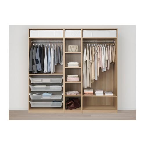 PAX - 衣櫃, 白色/Repvåg 染白橡木飾面   IKEA 香港及澳門 - PE667894_S4