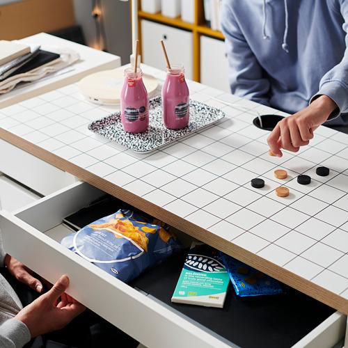 MICKE - desk, 105x50x75 cm, white/anthracite | IKEA Hong Kong and Macau - PH175202_S4