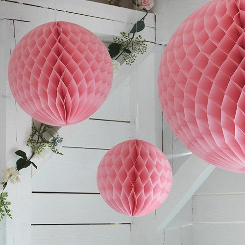 INBJUDEN - 吊飾,3件套裝, 球形 粉紅色   IKEA 香港及澳門 - PE812128_S4