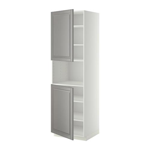 METOD - high cab f micro w 2 doors/shelves, white/Bodbyn grey | IKEA 香港及澳門 - PE408901_S4