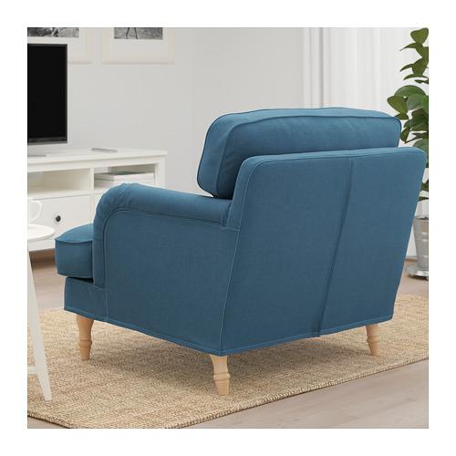 STOCKSUND - 扶手椅, Ljungen 藍色/淺褐色/木 | IKEA 香港及澳門 - PE717434_S4