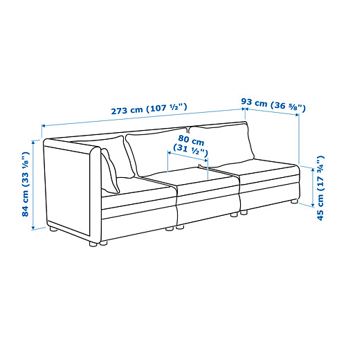 VALLENTUNA - 3-seat modular sofa, with open end and storage/Murum black | IKEA Hong Kong and Macau - PE717437_S4