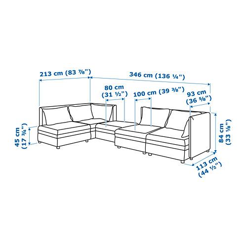 VALLENTUNA 組合式角位4座位梳化