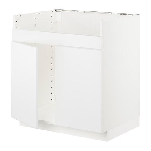 METOD - base cab f HAVSEN double bowl sink, white/Kungsbacka matt white | IKEA Hong Kong and Macau - PE717445_S4