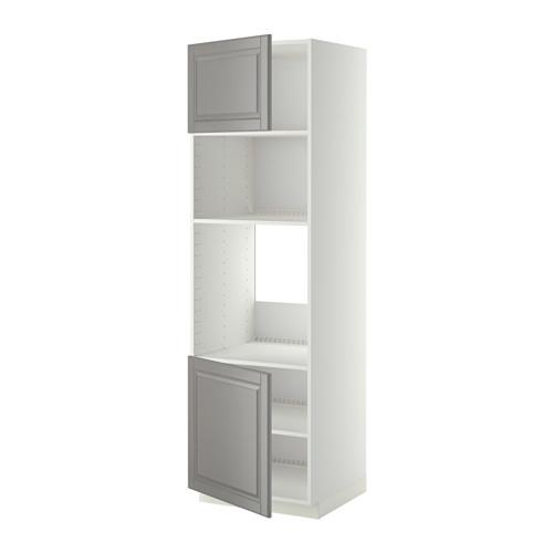 METOD - hi cb f oven/micro w 2 drs/shelves, white/Bodbyn grey | IKEA Hong Kong and Macau - PE409032_S4