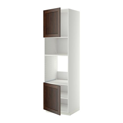 METOD - hi cb f oven/micro w 2 drs/shelves, white/Edserum brown | IKEA Hong Kong and Macau - PE409081_S4