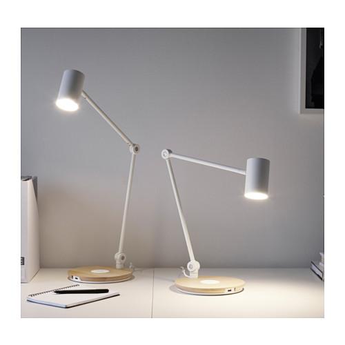 RIGGAD - LED工作燈連無線充電座, 白色   IKEA 香港及澳門 - PE614867_S4