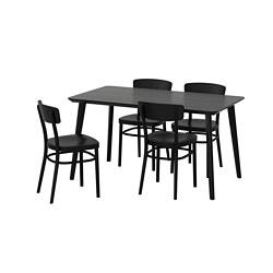 IDOLF/LISABO - table and 4 chairs, black/black | IKEA Hong Kong and Macau - PE667959_S3