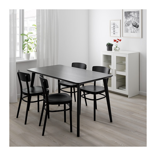 IDOLF/LISABO table and 4 chairs