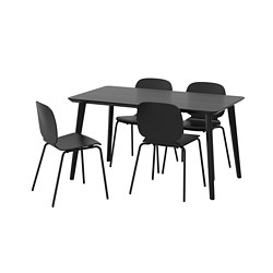 SVENBERTIL/LISABO - table and 4 chairs, black/black | IKEA Hong Kong and Macau - PE667998_S3