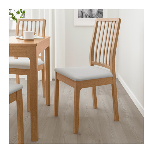 EKEDALEN - chair, oak/Orrsta light grey | IKEA Hong Kong and Macau - PE717456_S4