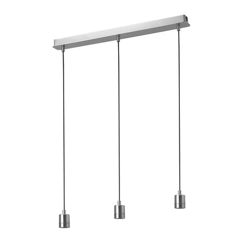 SKAFTET - 三頭電線套裝連天花板吸頂裝置, 鍍鎳 長方形 | IKEA 香港及澳門 - PE812199_S4
