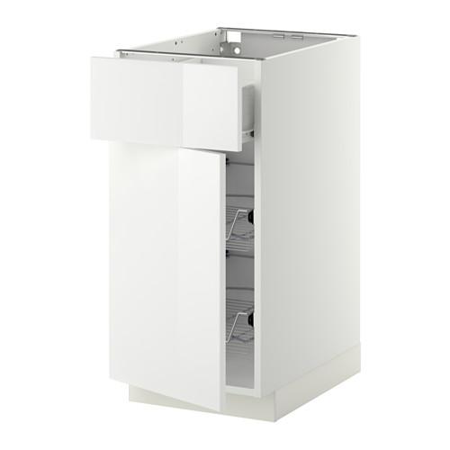 METOD - 地櫃連鋼條藍/抽屜/門, 白色 Förvara/Ringhult 白色 | IKEA 香港及澳門 - PE409223_S4