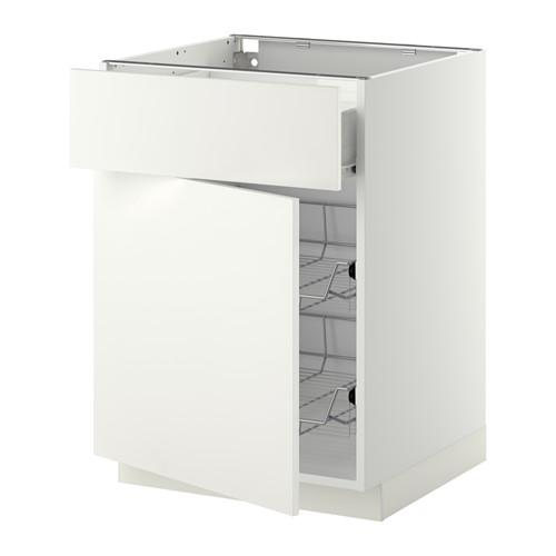 METOD/FÖRVARA 地櫃連鋼條籃/抽屜/門