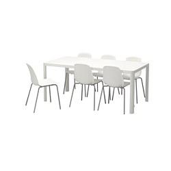 LEIFARNE/TINGBY - 一檯六椅, 白色/白色 | IKEA 香港及澳門 - PE668018_S3