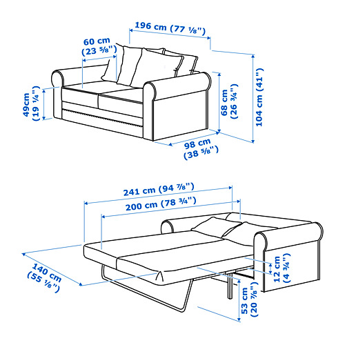 GRÖNLID - 2-seat sofa-bed, Sporda natural | IKEA Hong Kong and Macau - PE717512_S4