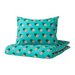 GRACIÖS - 被套枕袋套裝, 點狀/粉紅色 湖水綠色 | IKEA 香港及澳門 - PE756566_S3