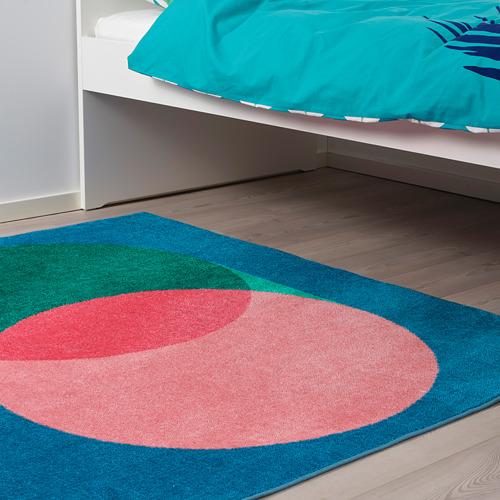 GRACIÖS - 地氈, 粉紅色/藍色   IKEA 香港及澳門 - PE756575_S4