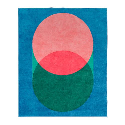 GRACIÖS - 地氈, 粉紅色/藍色   IKEA 香港及澳門 - PE756576_S4