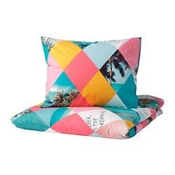 GRACIÖS - 被套枕袋套裝, 格紋 | IKEA 香港及澳門 - PE756585_S3