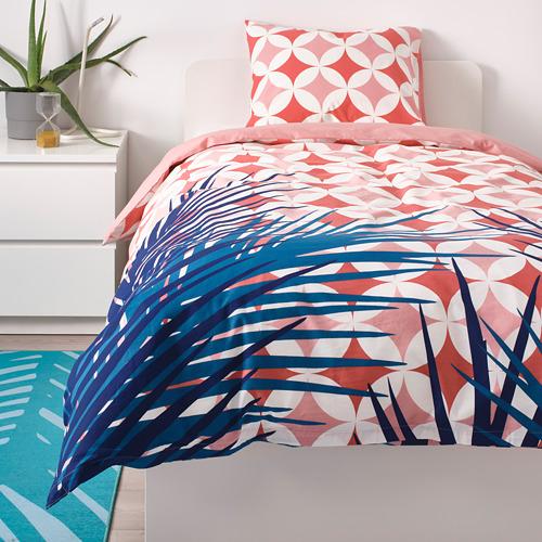 GRACIÖS - 被套枕袋套裝, 方塊圖案/粉紅色   IKEA 香港及澳門 - PE756589_S4