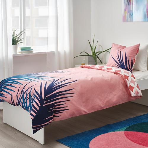 GRACIÖS - 被套枕袋套裝, 方塊圖案/粉紅色   IKEA 香港及澳門 - PE756590_S4