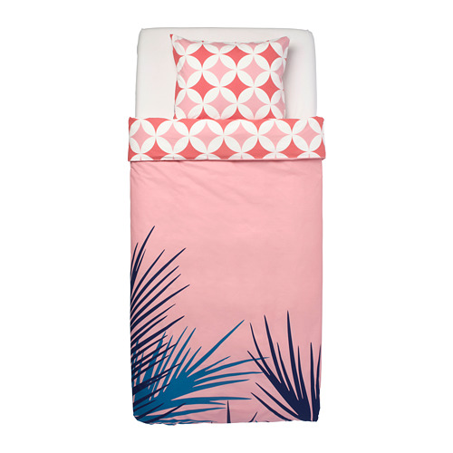 GRACIÖS - 被套枕袋套裝, 方塊圖案/粉紅色   IKEA 香港及澳門 - PE756594_S4