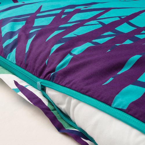 GRACIÖS - 被套枕袋套裝, 方塊圖案/湖水綠色   IKEA 香港及澳門 - PE756607_S4