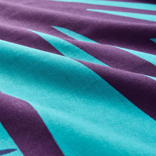 GRACIÖS - 被套枕袋套裝, 方塊圖案/湖水綠色   IKEA 香港及澳門 - PE756611_S4