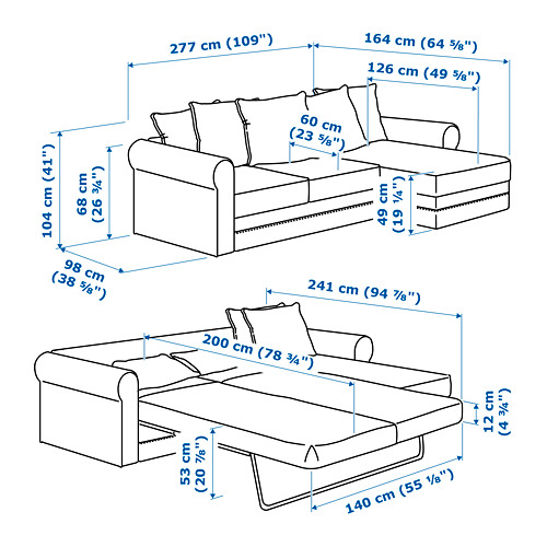 GRÖNLID - 3-seat sofa-bed, with chaise longue/Kimstad dark brown | IKEA Hong Kong and Macau - PE717550_S4