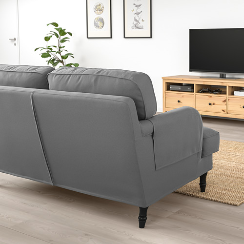 STOCKSUND - 2-seat sofa, Ljungen medium grey/black/wood | IKEA Hong Kong and Macau - PE756615_S4